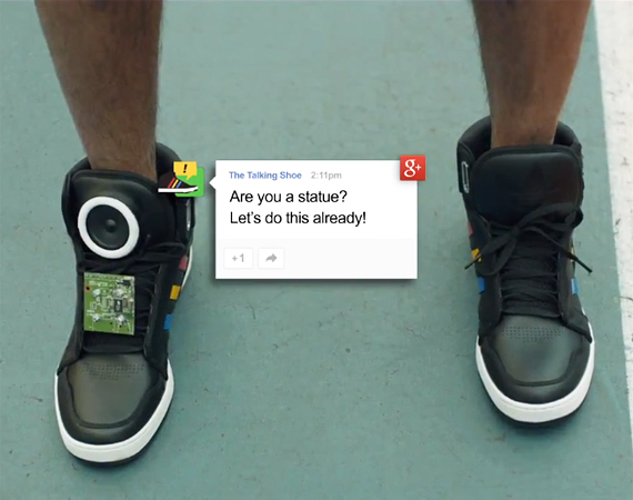 Google talking shoes